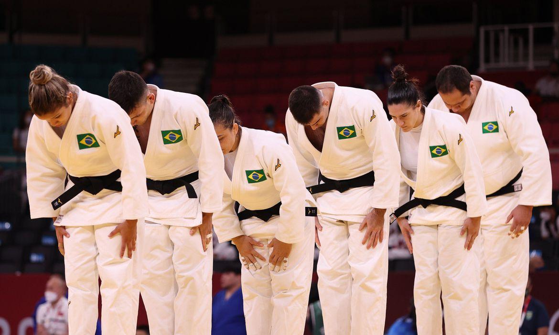 Time misto de Judo brasileiro | Foto: Jonne Roriz / COB