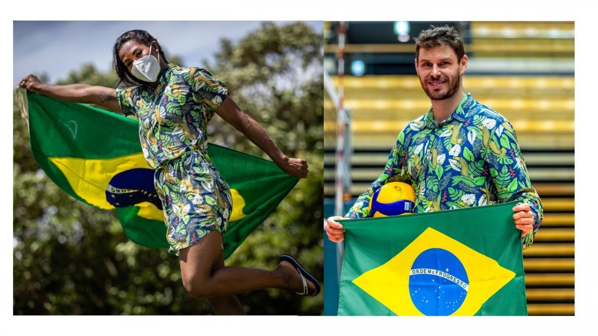 Ketleyn Quadros, do judô, e Bruninho, do vôlei,   Foto: COB