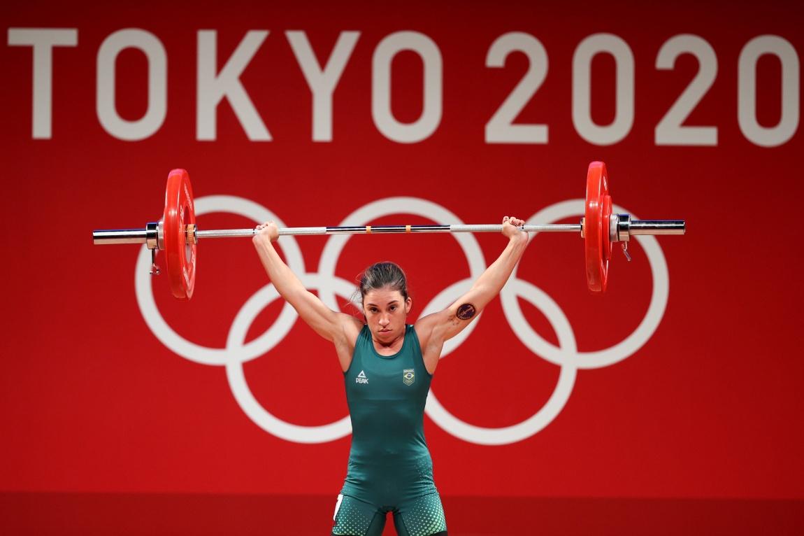 Nathasha durante a prova disputada nos Jogos Olímpicos de Tóquio. Foto: Tokyo 2020
