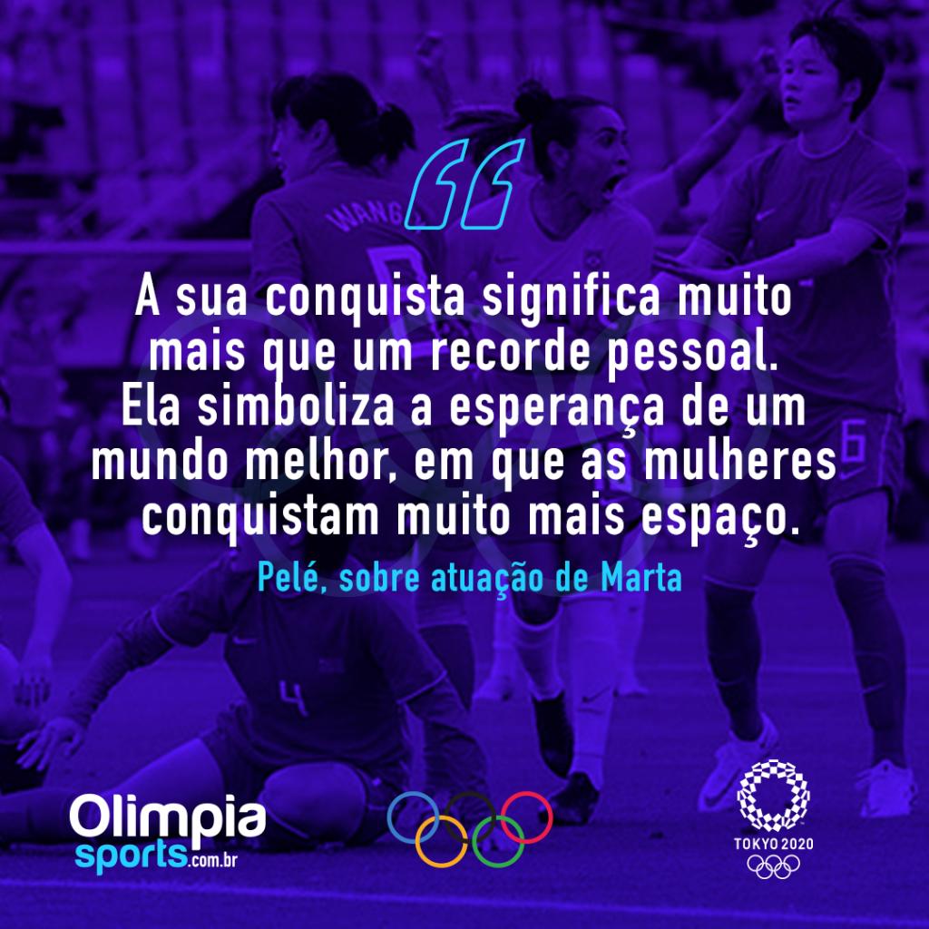 """Atuação de Marta ganha reverência de Pelé: """"mais que uma jogadora"""" - Olimpia Sports"""