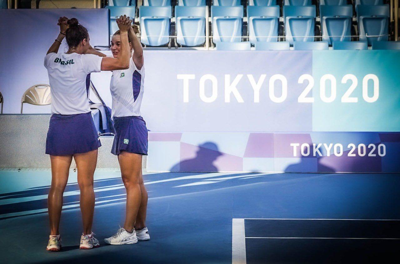 tenistas Luisa Stefani e Laura Pigossi fizeram história na Olimpíada de Tóquio | Foto: Rafael Bello:COB