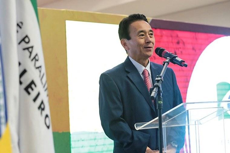O prefeito de Hamamatsu, Yasutomo Suzuki. Foto: Leandro Martins/CPB/MPIX