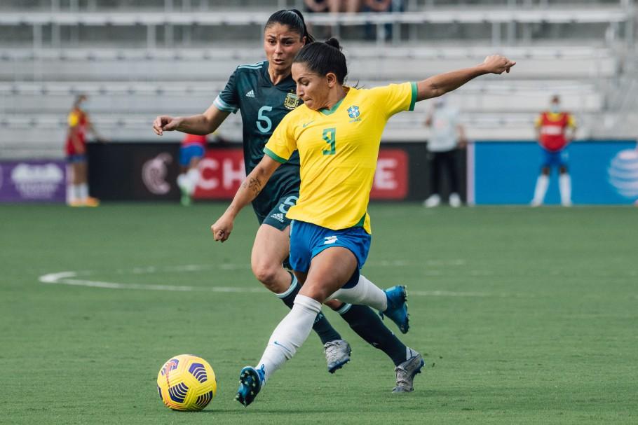 Primeiro jogo do Torneio She Believes em Orlando: Brasil x Argentina | Créditos: Sam Robles/CBF
