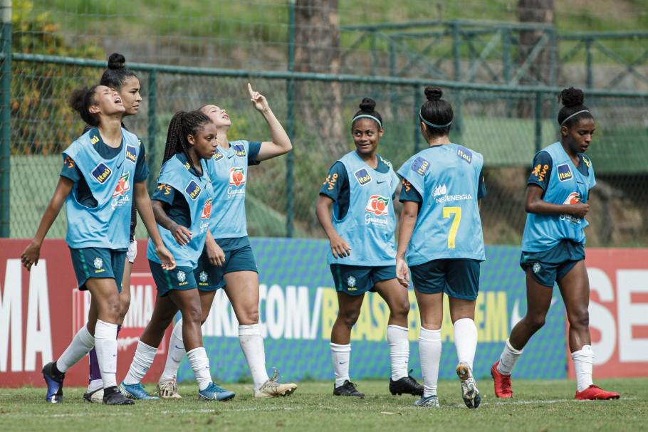 Jogo treino da Seleção Feminina Sub-20 x Botafogo em Pinheiral. Giovana Marcelino. Créditos: Adriano Fontes/CBF