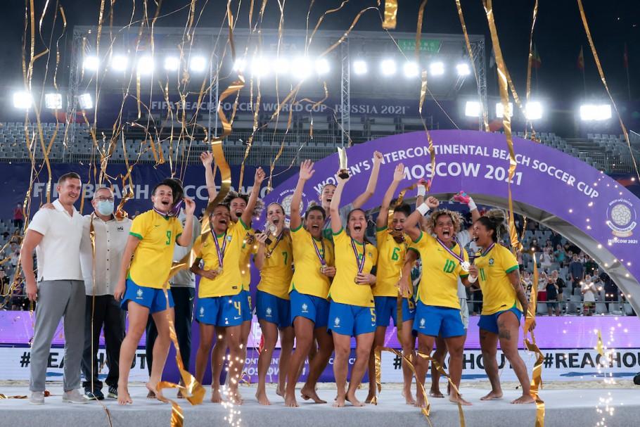 Brasil se sagra campeão da Copa Intercontinental de Beach Soccer Feminino Créditos: Beach Soccer World Wide
