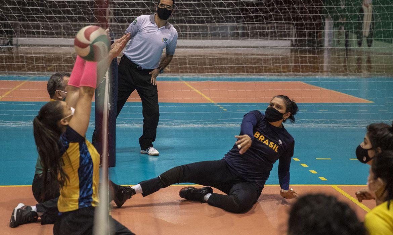 Seleção Feminina de Vôlei Sentado   Foto: Ale Cabral / CPB