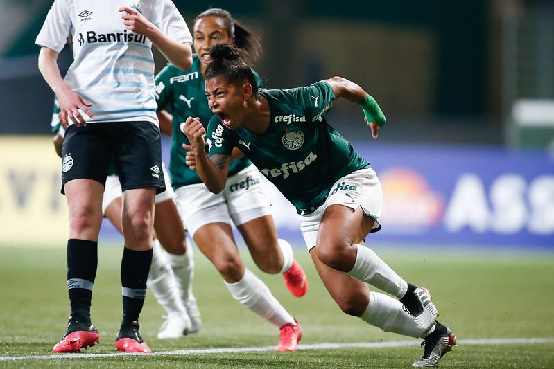 Palmeiras venceu o Grêmio por 4 a 1 e se garantiu nas semifinais do Brasileirão Feminino Neoenergia Créditos: Livia Villas Boas/CBF