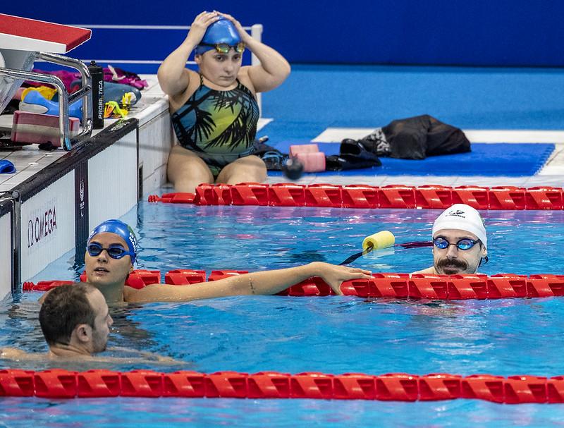 22.08.21 - ROBERTO ALCALDE - Treino da Natação na piscina oficial de competição no Tokyo Aquatics Center. Foto: Ale Cabral/CPB.