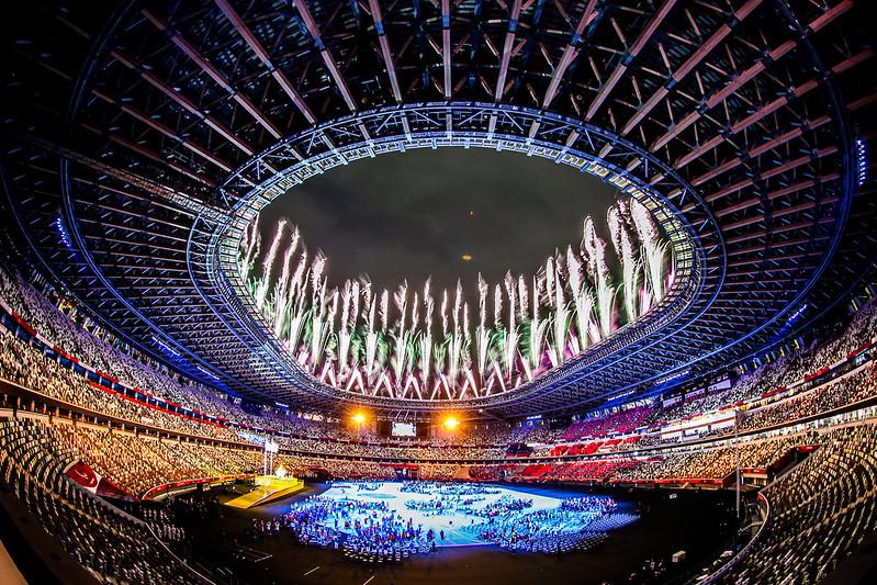 24.08.21 - Jogos Paralímpicos de Tóquio 2020 - Cerimônia de Abertura - Estádio Olímpico de Tókio - Foto: Wander Roberto/CPB @wander_imagem