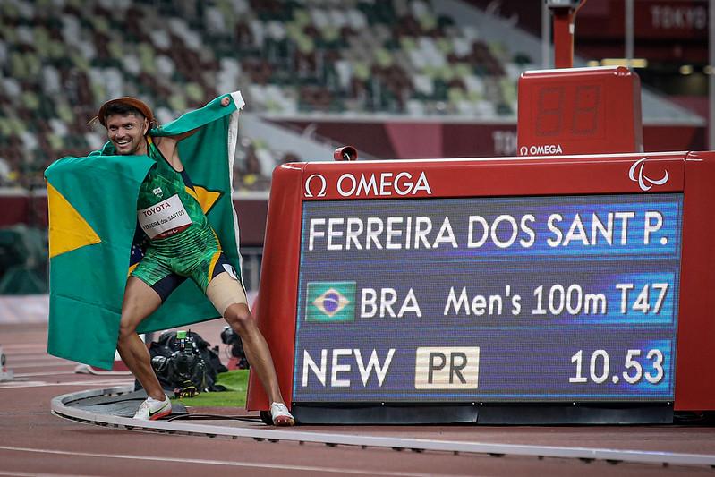 27.08.21 - PETRÚCIO FERREIRA DOS SANTOS - Atletismo - 100m Masculino - T47 - Jogos Paralímpicos de Tóquio 2020 - Estádio Olímpico - Foto: Wander Roberto/CPB @wander_imagem