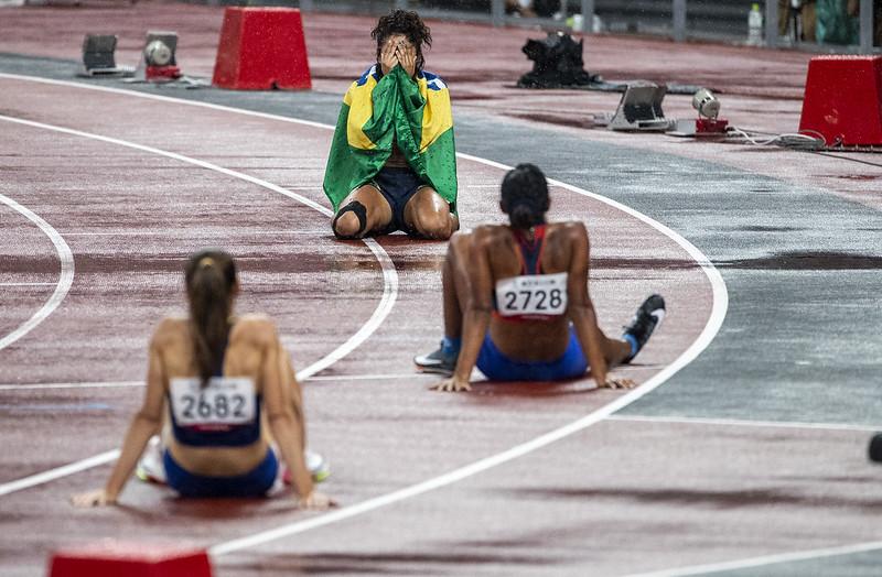 31.08.21 - JARDENIA BARBOSA - BRONZE 400M T20 - Finais de Atletismo no Estádio Olímpico Nacional. Jogos Paralímpicos Tóquio 2020. Foto: Ale Cabral/CPB. @alecabral_ale