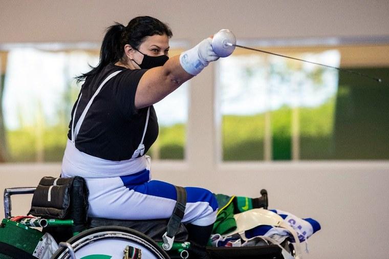 Monica Santos | Mônica Santos é uma das esgrimistas brasileiras classificadas. Foto: Ale Cabral/CPB