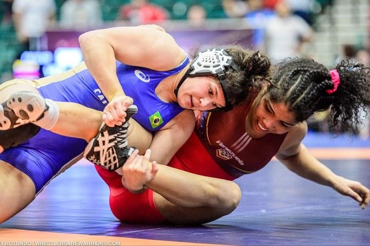 Lais Nunes Wrestling Jogos Olímpicos   Foto: Divulgação