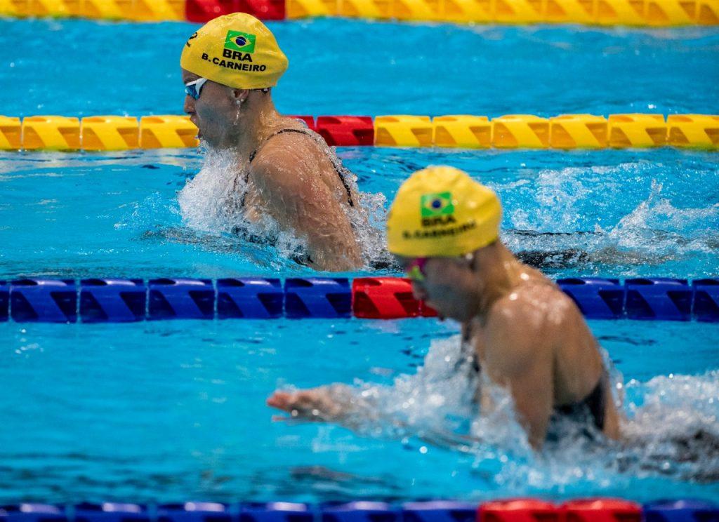 Beatriz Carneiro ficou na 3ª colocação, enquanto Debora, na 4ª, apenas 2 centésimos atrás da irmã.