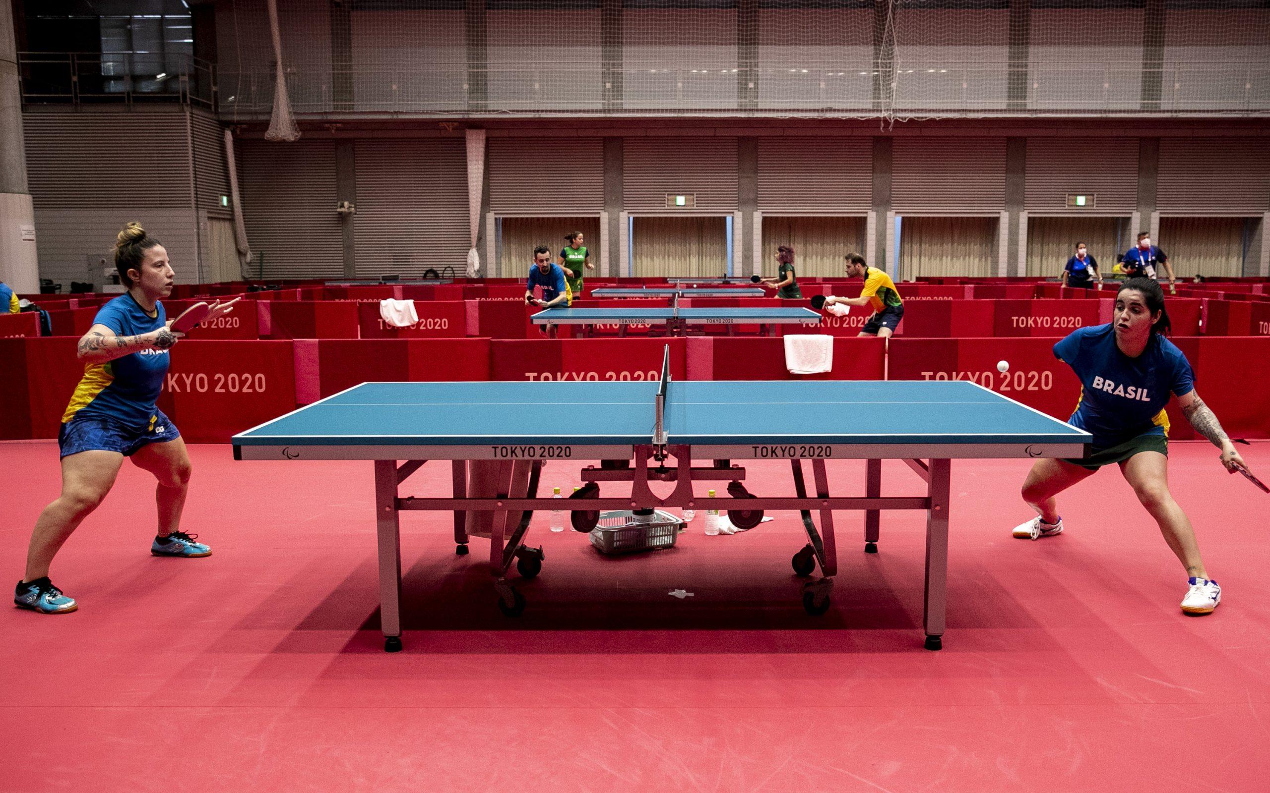 Atletas paralímpicos do Brasil fazem primeiro treino no Ginásio Metropolitano de Tóquio   Foto: Ale Cabral/CPB