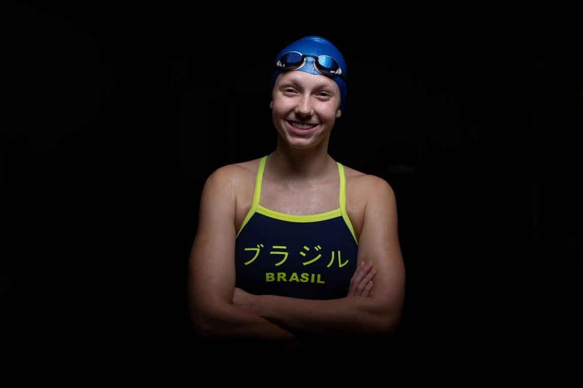 18.07.2021 - Jogos Olímpicos Tóquio 2020 - Retrato de Stephanie Balduccini, nadadora e atleta olímpica da equipe do Time Brasil após o treino na cidade de Sagamihara, Tóquio. Foto: Jonne Roriz/COB
