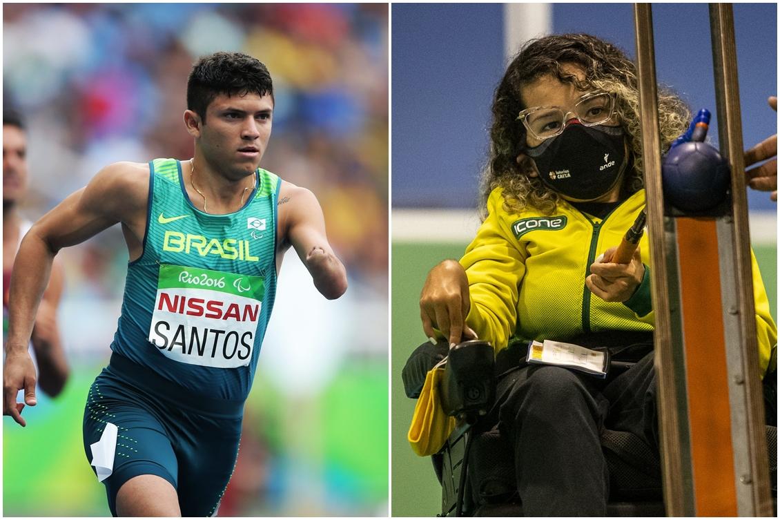 Petrúcio Ferreira e Evelyn Oliveira Fotos: Rededoesporte e CPB
