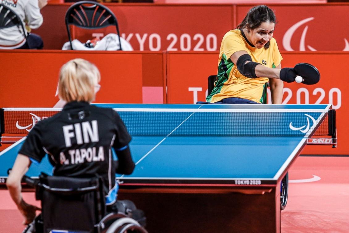 Cátia Oliveira superou a finlandesa Aino Tapola. Foto: Wander Roberto/ CPB