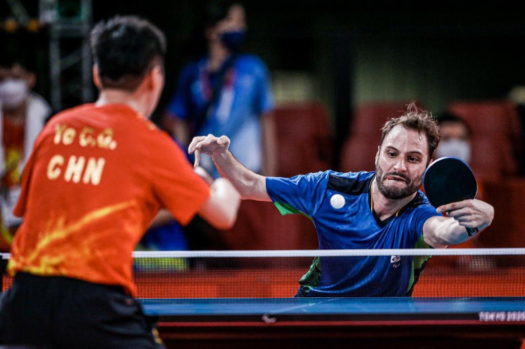 Manara fez uma partida muito parelha contra o chinês Qun Ye Chao. Foto: Wander Roberto/ CPB