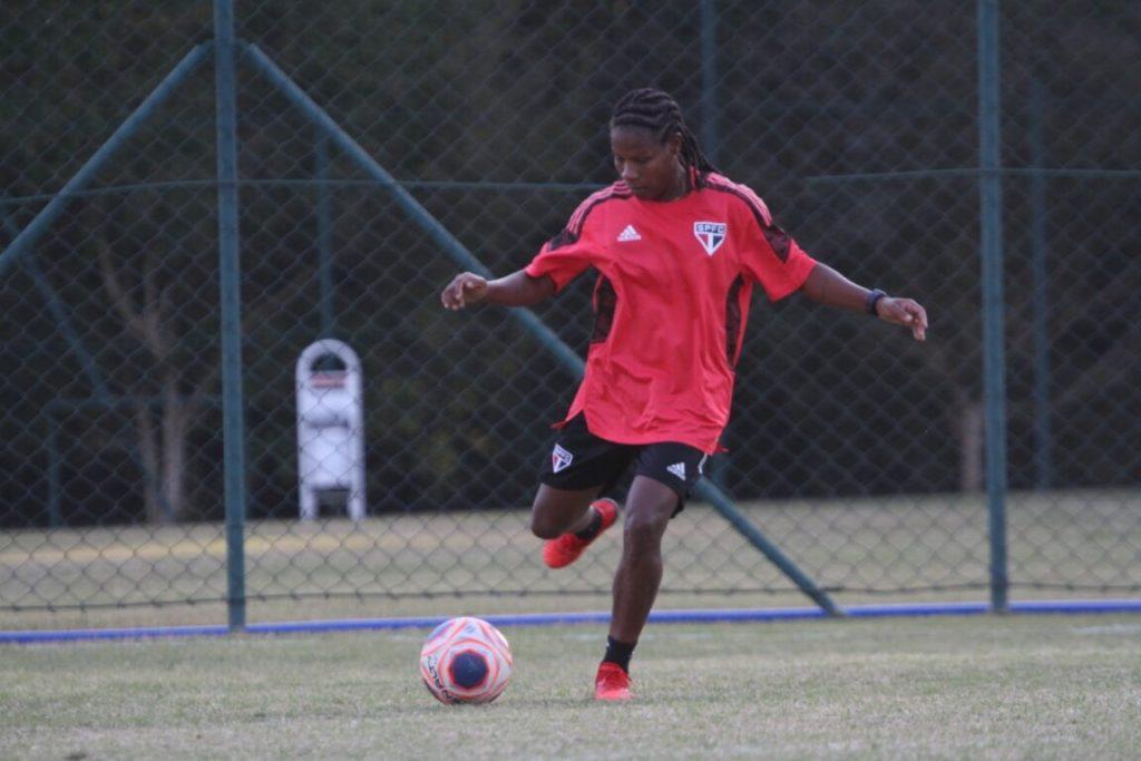 Formiga em ação durante treino do Tricolor/Foto: Gabriela Montesano/São Paulo