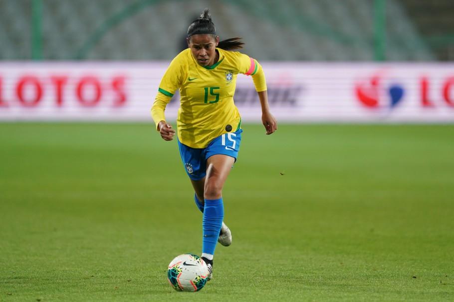 Seleção Brasileira enfrenta a Polônia, na Suzuki Arena, em Kielce. Victória Créditos: Daniela Porcelli/CBF