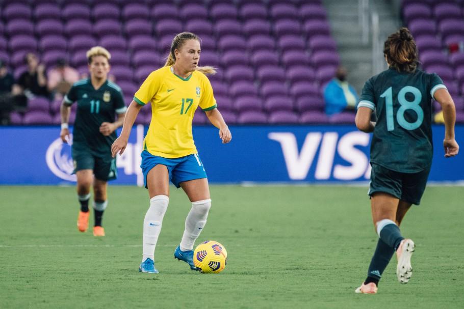 Andressinha Primeiro jogo do Torneio She Believes em Orlando: Brasil x Argentina Créditos: Sam Robles/CBF