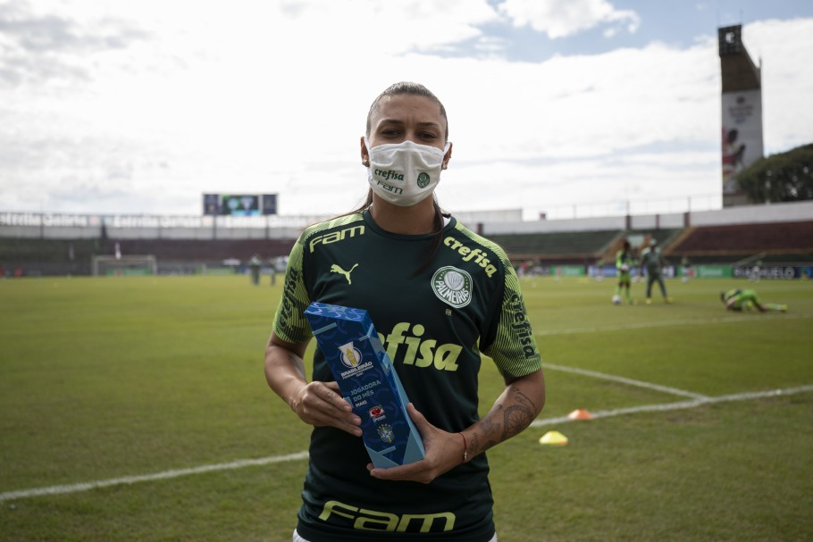 Bia Zaneratto, Jogadora do Mês de maio do Brasileirão Feminino Neoenergia. Prêmio foi uma das novidades da temporada Créditos: Thais Magalhães/CBF