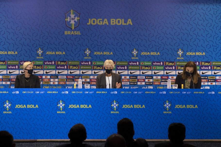 Pia Sundhage convoca Seleção Feminina para jogos preparatórios diante da Argentina Créditos: Amanda Paiva/CBF