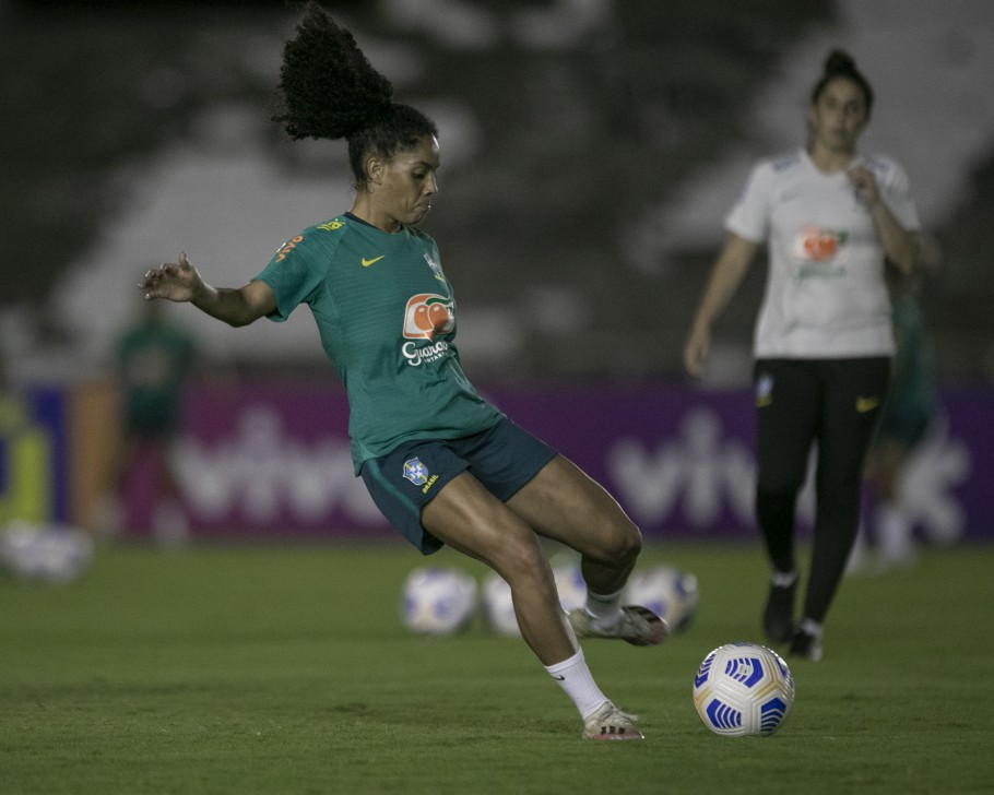 Seleção Feminina faz primeiro treino em João Pessoa, na Paraíba. Yasmin Créditos: Talita Gouvêa/CBF