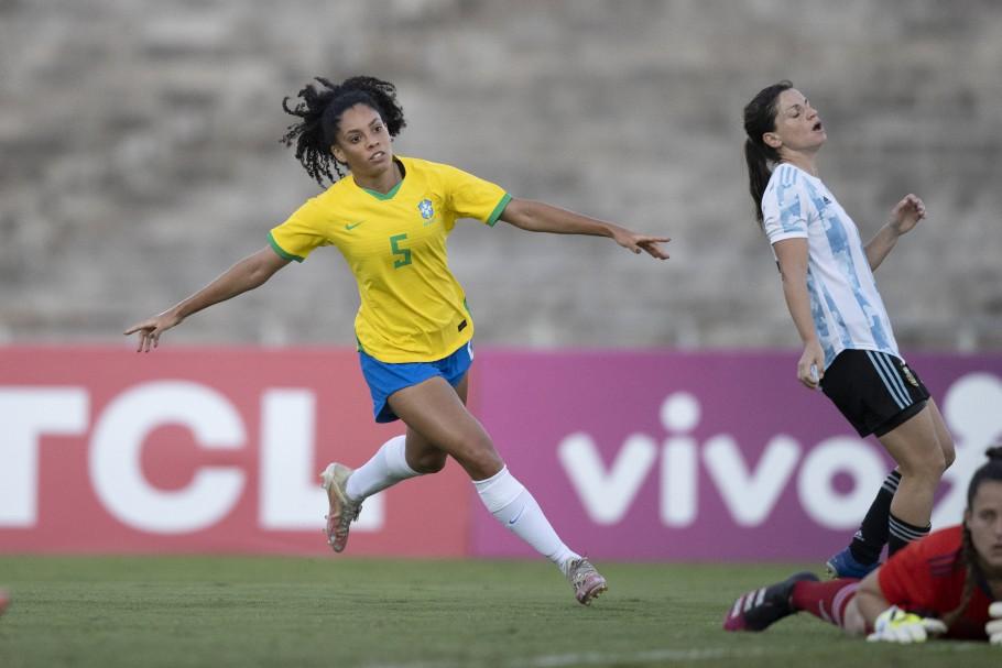 Yasmim, Jogo preparatório da Seleção Feminina contra a Argentina em João Pessoa Créditos: Lucas Figueiredo/CBF
