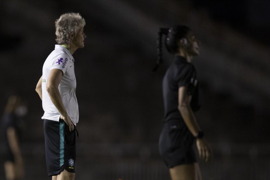 Jogo preparatório da Seleção Feminina contra a Argentina em João Pessoa Créditos: Lucas Figueiredo/CBF