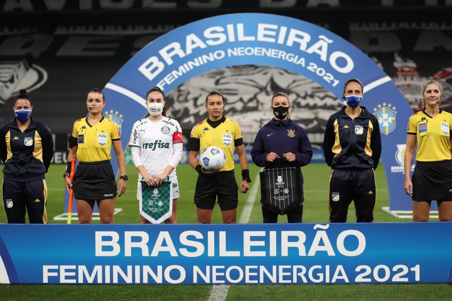 Corinthians e Palmeiras na final do Brasileirão Feminino Neoenergia 2021 Créditos: Staff Images Woman/CBF