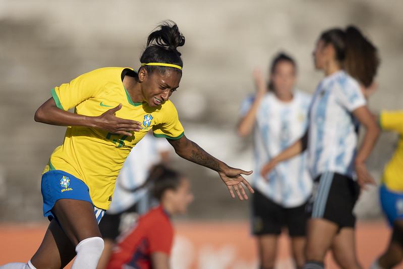 Kerolin Jogo preparatório da Seleção Feminina contra a Argentina em João Pessoa. Lucas Figueiredo/CBF