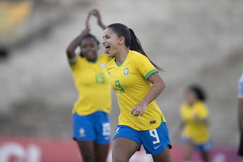 Debinha. Jogo preparatório da Seleção Feminina contra a Argentina em João Pessoa. Lucas Figueiredo/CBF