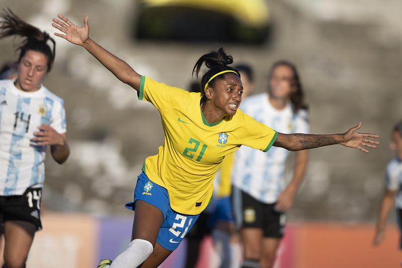 Jogo preparatório da Seleção Feminina contra a Argentina em João Pessoa. Lucas Figueiredo/CBF