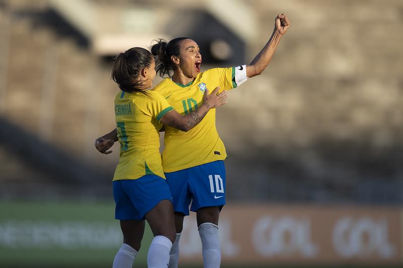 Marta Jogo preparatório da Seleção Feminina contra a Argentina em João Pessoa. Lucas Figueiredo/CBF