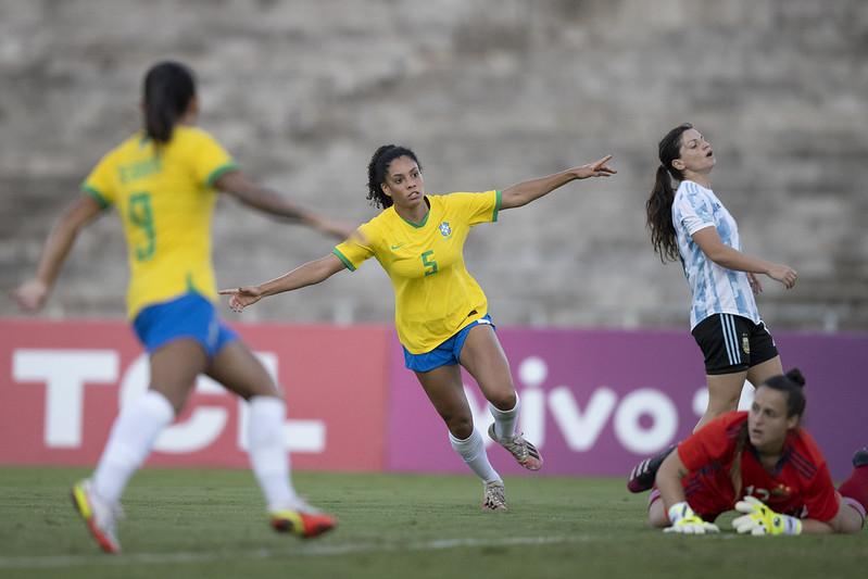 Yasmin. Jogo preparatório da Seleção Feminina contra a Argentina em João Pessoa. Lucas Figueiredo/CBF
