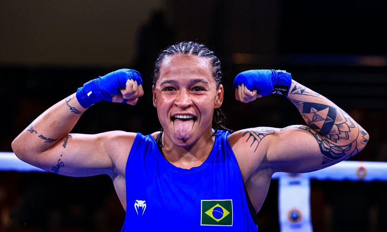 Bia Ferreira Campeã do Mundial Militar de Boxe   Foto: AIBA / Divulgação