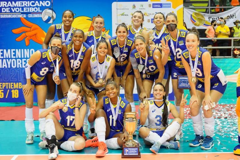 Brasil ficou com título do Sul-Americano pela 22ª vez (Créditos: Divulgação/Inderbarranca )