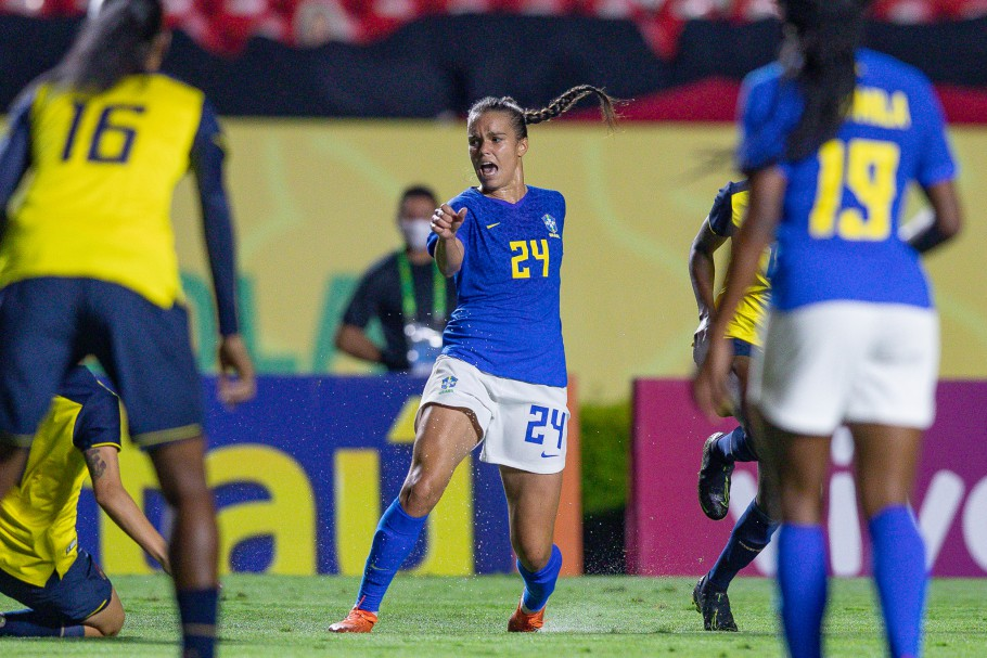 Brasil x Equador - Jogo preparatório da Seleção Feminina Principal no Morumbi - 01/12/2020. Ana Vitória Créditos: Mariana Sá / CBF