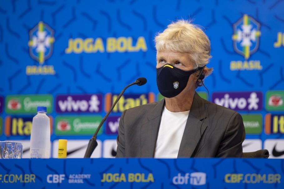 Pia Sundhage convoca Seleção Olímpica Feminina para os Jogos Olímpicos de Tóquio 2020. Pia Sundhage. Créditos: Thais Magalhães/CBF