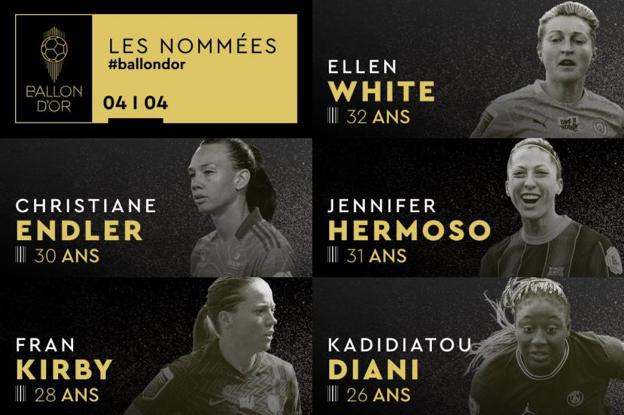 Divulgada a lista das candidatas à Bola de Ouro Feminina - Olimpia Sports